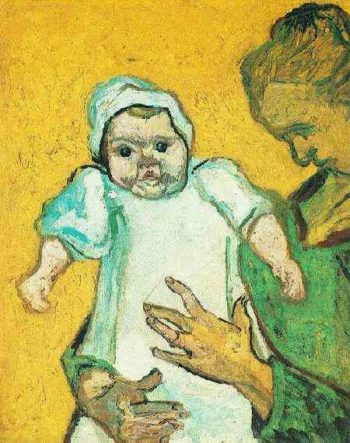 Mother Roulin with Her Baby version 2 | Vincent Van Gogh | oil painting