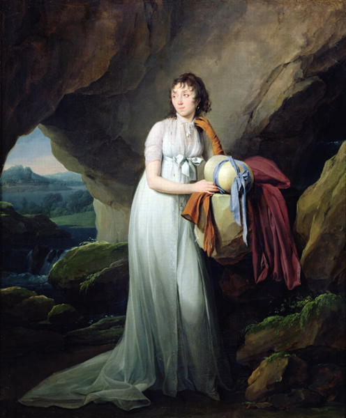 Portrait of a Woman in a Cave 1805   Louis Leopold Boilly   oil painting