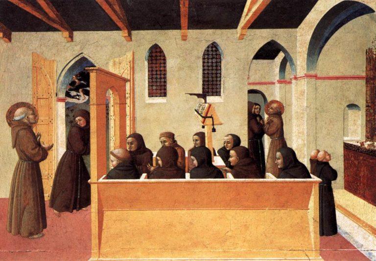 Damnation of the Soul of the Miser of Citerna 1437-44 | Sassetta | oil painting