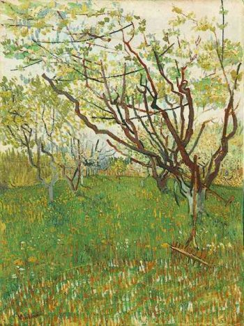 Orchard in Blossom | Vincent Van Gogh | oil painting