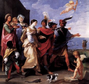 The Rape of Helena 1626-29   Guido Reni   oil painting