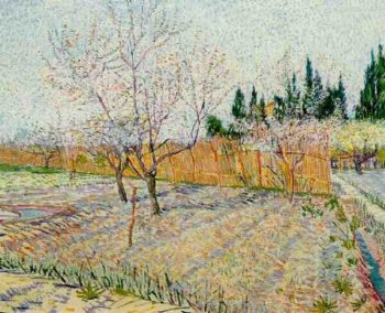 Orchard with Peach Trees in Blossom | Vincent Van Gogh | oil painting