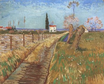 Path Through a Field with Willows | Vincent Van Gogh | oil painting