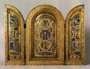 Triptych 1150s   English Unknown Goldsmith   oil painting