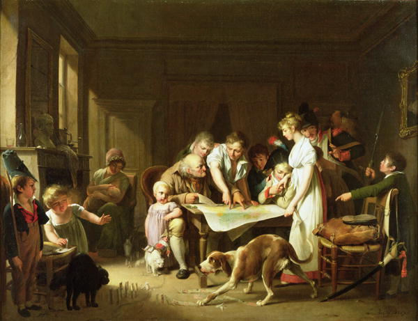 The Reading of the Eleventh Bulletin of the Grande Armee 1807 | Louis Leopold Boilly | oil painting