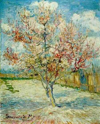 Pink Peach Tree in Blossom (Reminiscence of Mauve) | Vincent Van Gogh | oil painting