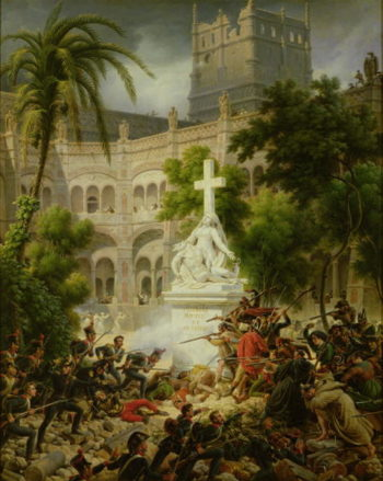 Assault on the Monastery of San Engracio in Zaragoza 8th February 1809 1827 | Louis Lejeune | oil painting