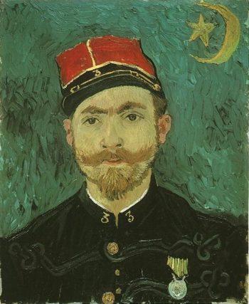 Portrait of Milliet Second Lieutenant of the Zouaves | Vincent Van Gogh | oil painting