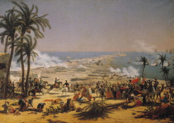 The Battle of Aboukir 25th July 1799 | Louis Lejeune | oil painting