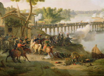 The Battle of Lodi 10th May 1796 detail of Napoleon | Louis Lejeune | oil painting