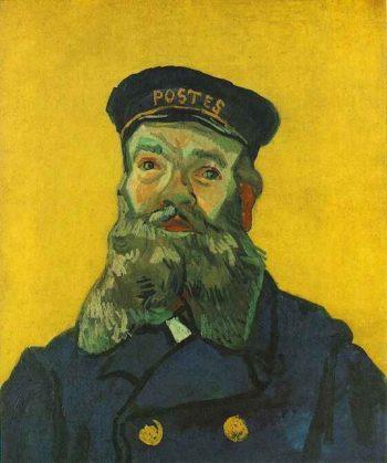 Portrait of the Postman Joseph Roulin version 3 | Vincent Van Gogh | oil painting