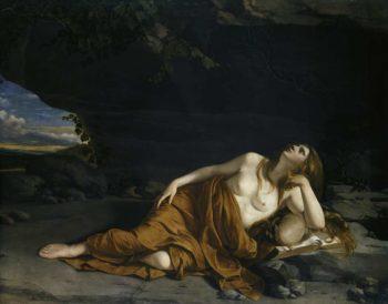 Penitent Mary Magdalene | Orazio Lomi Gentileschi | oil painting