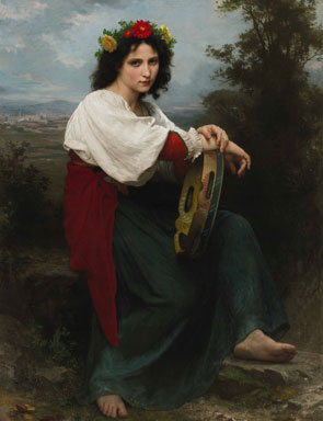 Italienne au Tambour de Basque 1872 | William Bouguereau | oil painting