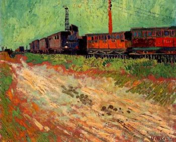 Railway Carriages | Vincent Van Gogh | oil painting
