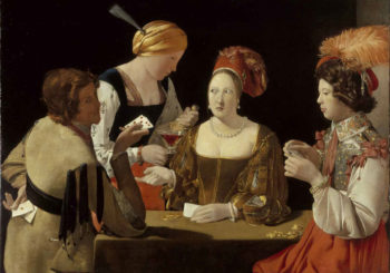 The Card Sharp with Ace of Diamonds | Georges de La Tour | oil painting