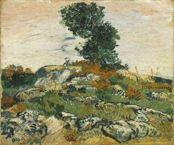 Rocks with Oak Tree | Vincent Van Gogh | oil painting