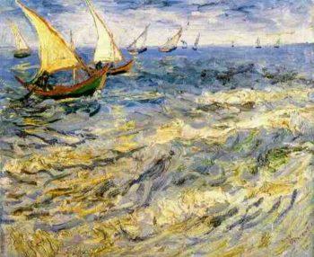 Seascape at Saintes-Maries version 2 | Vincent Van Gogh | oil painting
