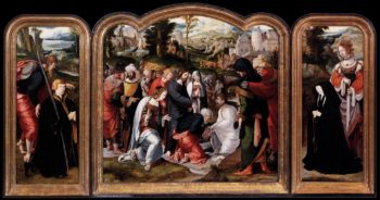 Triptych 1520   Netherlandish Unknown Master   oil painting
