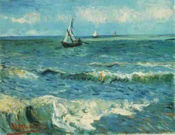 Seascape at Saintes-Maries | Vincent Van Gogh | oil painting
