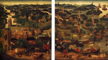 Two wings of an altarpiece 1500   Netherlandish Unknown Master   oil painting