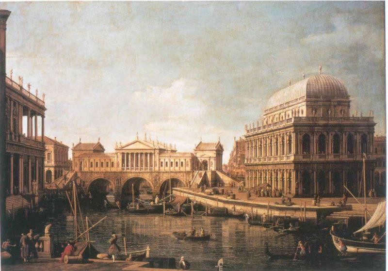 Capriccio palladiano | Canaletto | oil painting