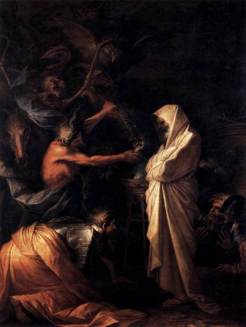 The Shade of Samuel Appears to Saul 1668 | Salvator Rosa | oil painting