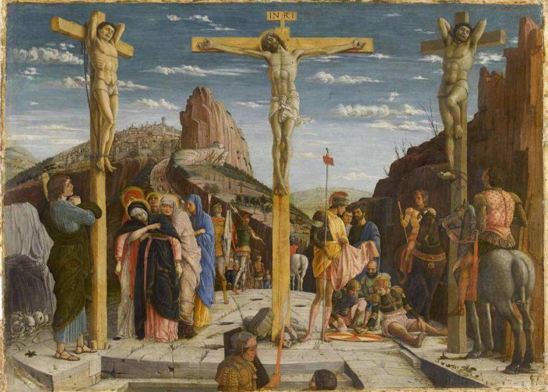 La Crucifixion (dit Le Calvaire) 1457   Andrea Mantegna   oil painting