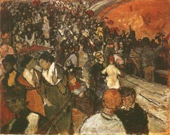 Spectators in the Arena at Arles | Vincent Van Gogh | oil painting