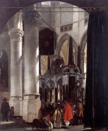 The Nieuwe Kerk in Delft with the Tomb of William the Silent 1651 | Emanuel De Witte | oil painting