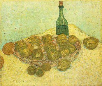 Still Life Bottle Lemons and Oranges | Vincent Van Gogh | oil painting