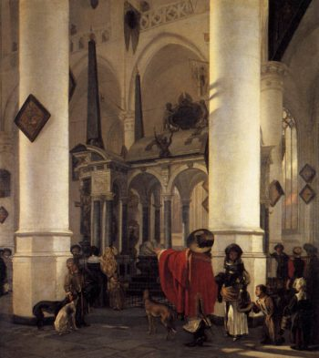 View of the Tomb of Willem the Silent in the New Church in Delft 1656 | Emanuel De Witte | oil painting