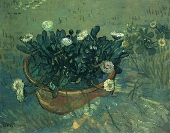 Still Life Bowl with Daisies | Vincent Van Gogh | oil painting