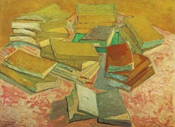 Still Life French Novels | Vincent Van Gogh | oil painting