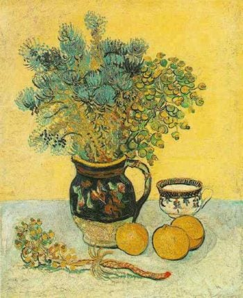 Still Life Majolica Jug with Wildflowers | Vincent Van Gogh | oil painting