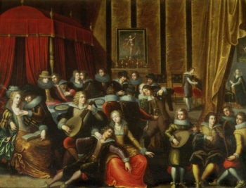 Scene Galante in a Chateau   Louis de Caullery   oil painting