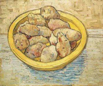 Still Life Potatoes in a Yellow Dish | Vincent Van Gogh | oil painting