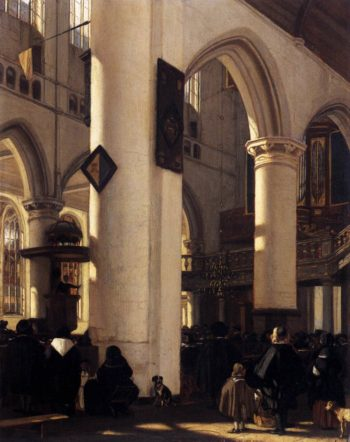 Interior of a Protestant Gothic Church 1669 | Emanuel De Witte | oil painting