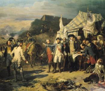 Siege of Yorktown 17th October 1781 1836 | Louis Charles Auguste Couder | oil painting