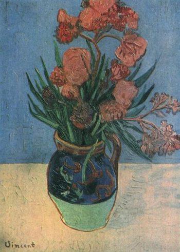 Still Life Vase with Oleanders | Vincent Van Gogh | oil painting
