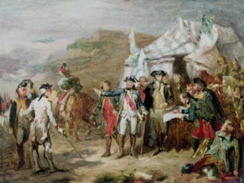 Sketch for the Battle of Yorktown 1st to 17th October 1781 1836 | Louis Charles Auguste Couder | oil painting