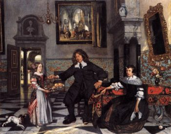 Portrait of a Family in an Interior 1678 | Emanuel De Witte | oil painting