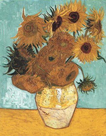 Still Life Vase with Twelve Sunflowers | Vincent Van Gogh | oil painting
