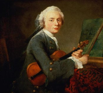 Young Man with a Violin, or Portrait of Charles Theodose Godefroy Jean Baptiste Simeon Chardin