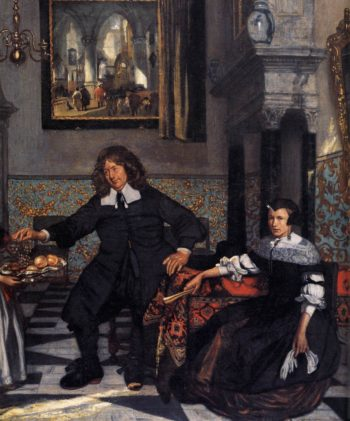 Portrait of a Family in an Interior (detail) 1678 | Emanuel De Witte | oil painting