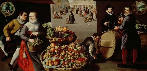 Fruit Market | Lucas van Valckenborch | oil painting