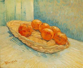 Still Life with Basket and Six Oranges | Vincent Van Gogh | oil painting