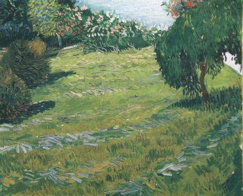 Sunny Lawn in a Public Park | Vincent Van Gogh | oil painting
