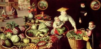 Vegetable Market   Lucas van Valckenborch   oil painting