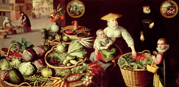 Vegetable Market | Lucas van Valckenborch | oil painting