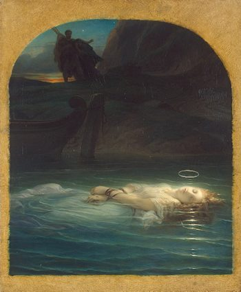 A Christian Martyr Drowned in the Tiber During the Reign of Diocletian Delaroche-Hippolyte-(Paul)-1853